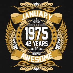 Anuary 1975 42 Years Of Being Awesome - Women's Hoodie