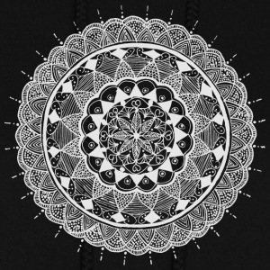 mandala white - new art - Women's Hoodie