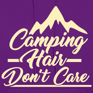 Camping Hair Don't Care for Outdoor Campers - Women's Hoodie