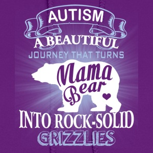 Autism Mom Beautiful Journey Turns Mama Bear Shirt - Women's Hoodie