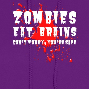Zombies eat brains - Women's Hoodie