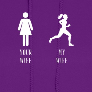 your wife my wife running - Women's Hoodie