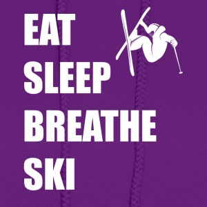Eat Sleep Breathe Ski - Women's Hoodie