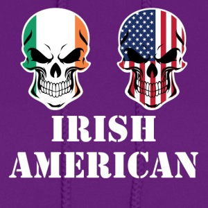 Irish American Flag Skulls - Women's Hoodie
