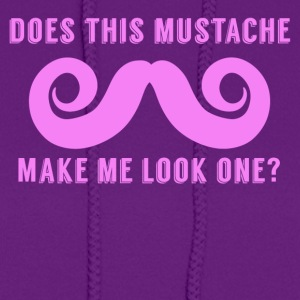 Does This Mustache Make Me Look One First Birthday - Women's Hoodie