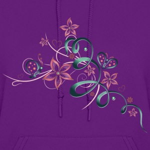 Flowers with hearts and butterflies - Women's Hoodie
