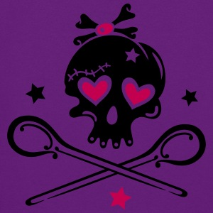 Skull girlie with hearts - Women's Hoodie