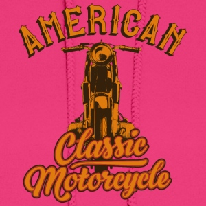 American classic motorcycle inscription cool art - Women's Hoodie