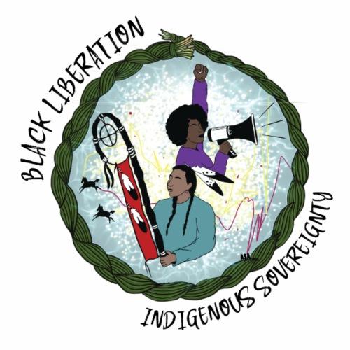 Black Liberation, Indigenous Sovereignty - Women's Premium Hoodie