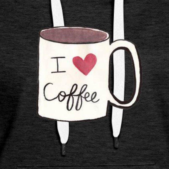 I Heart Coffee Coffee Cup Tee