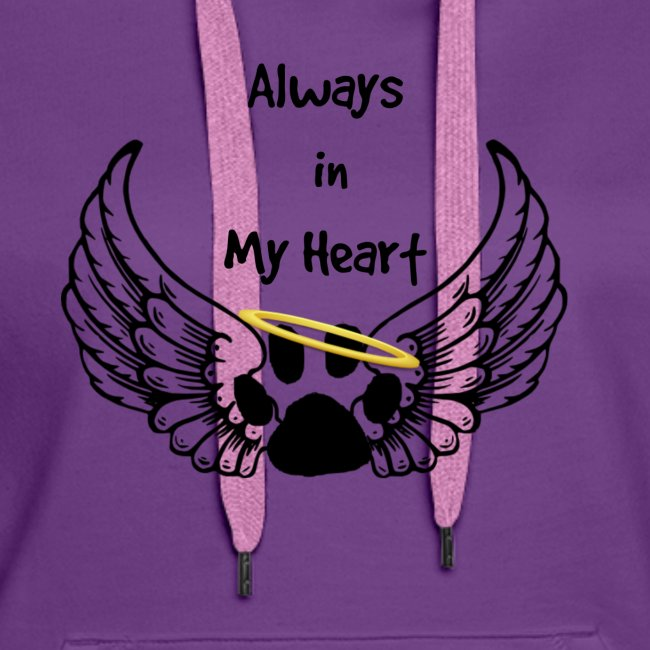 Always In my Heart Angle wings And paw Design