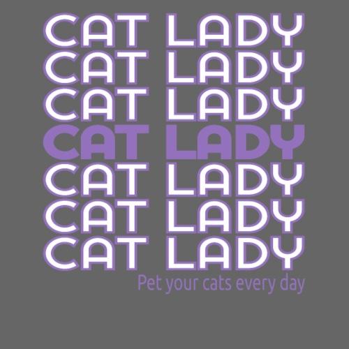 Cat Lady thank you bag design purple - Women's Premium Hoodie