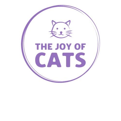 The Joy of Cats logo purple - Women's Premium Hoodie