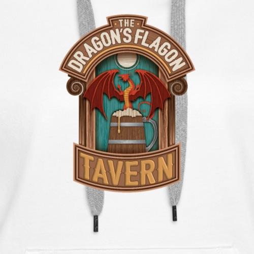 the dragons flagon tavern dragon fantasy - Women's Premium Hoodie