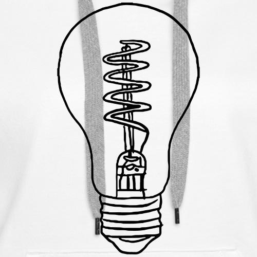 Vintage Light Bulb - Women's Premium Hoodie