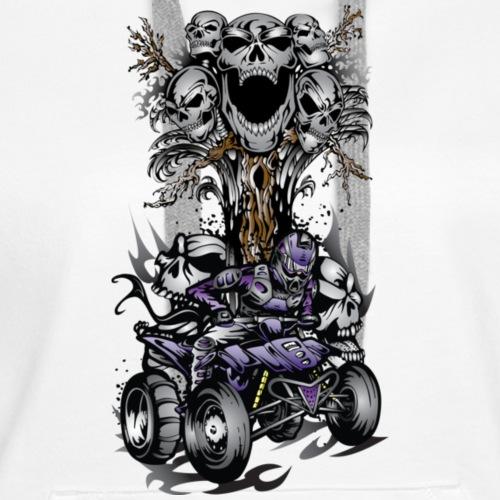 Skull-Tree Quad Style Purple - Women's Premium Hoodie