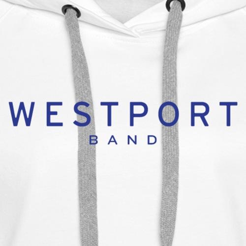 Westport Text Blue on transparent - Women's Premium Hoodie