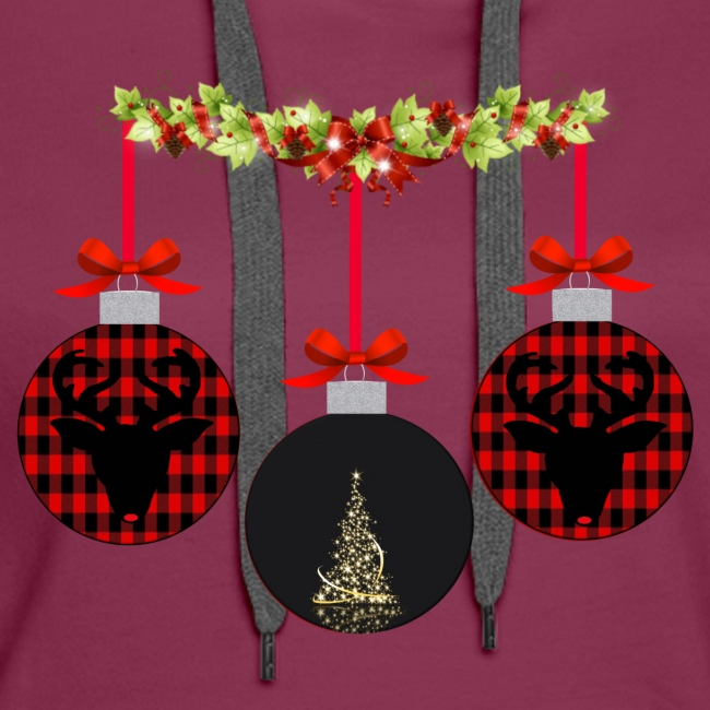 ornaments and garland