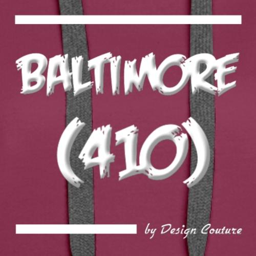 BALTIMORE 410 WHITE - Women's Premium Hoodie