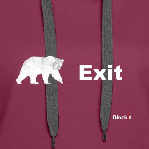 Exit pursued by bear - Women's Premium Hoodie