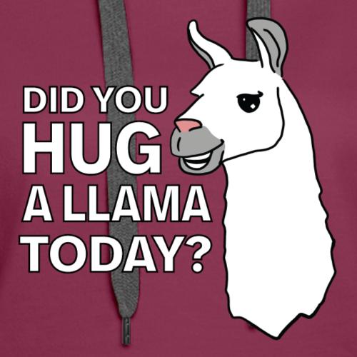 Hug a Llama - Women's Premium Hoodie