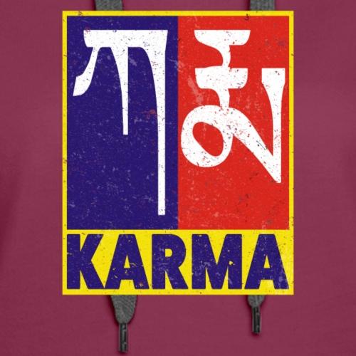 Karma Tibetan Word Text - Women's Premium Hoodie