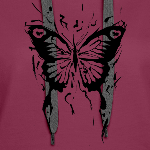 butterfly abstract - Women's Premium Hoodie