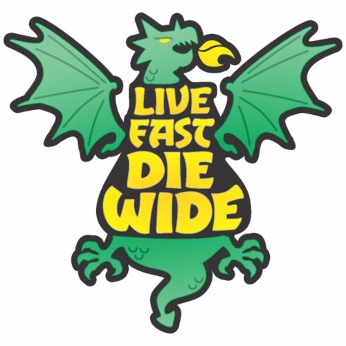 Live Fast Die Wide (green) - Women's Premium Hoodie