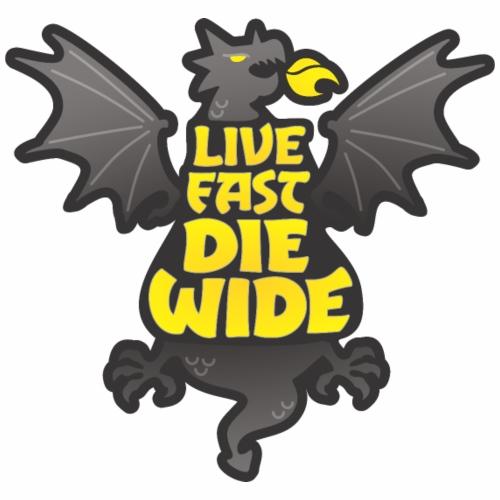 Live Fast Die Wide (black) - Women's Premium Hoodie