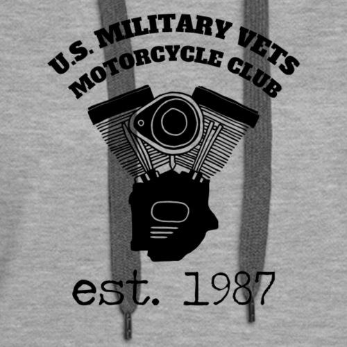 U.S. Military Vets Motorcycle Club -Vintage Engine - Women's Premium Hoodie