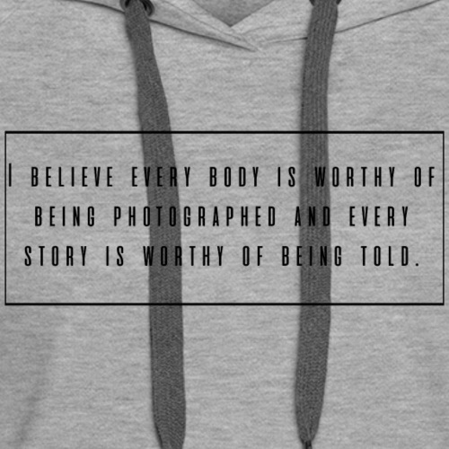 every body is worthy - Women's Premium Hoodie