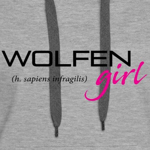 Wolfen Girl on Light - Women's Premium Hoodie