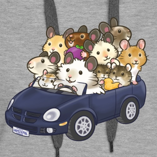 All aboard the hamster mobile! - Women's Premium Hoodie