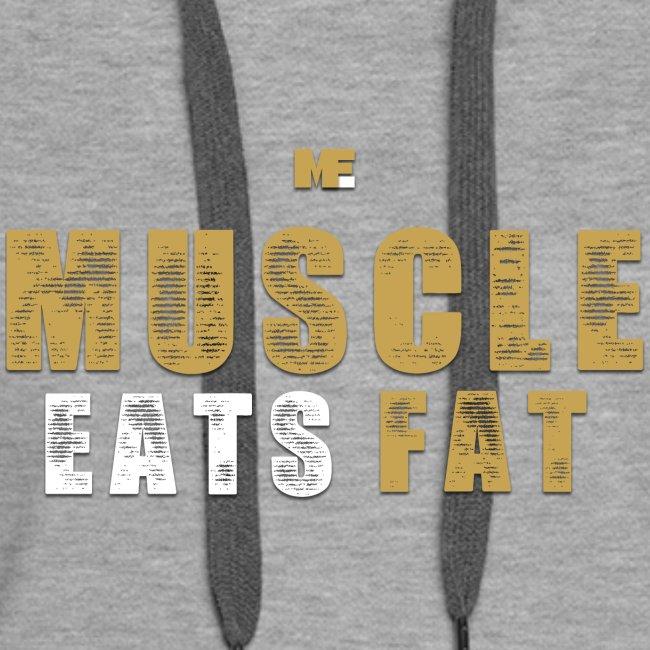 Muscle Eats Fat Tank Top (Saints Gold)