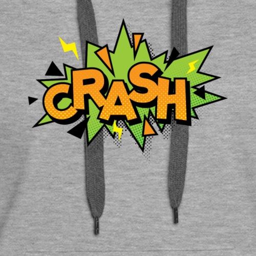 Comics CRASH Bubble, 80s Funny Comics Gift - Women's Premium Hoodie