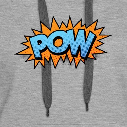 Superhero Action Words, Comics 70s Pop Art Element - Women's Premium Hoodie