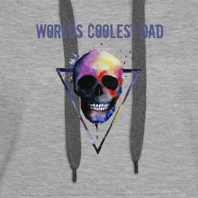 Worlds coolest dad skull Tee T shirt