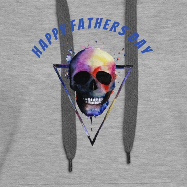 Happy fathers day skull Tee T shirt