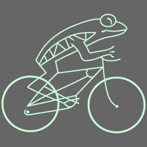 Frogbike - dark background - Women's Premium Hoodie