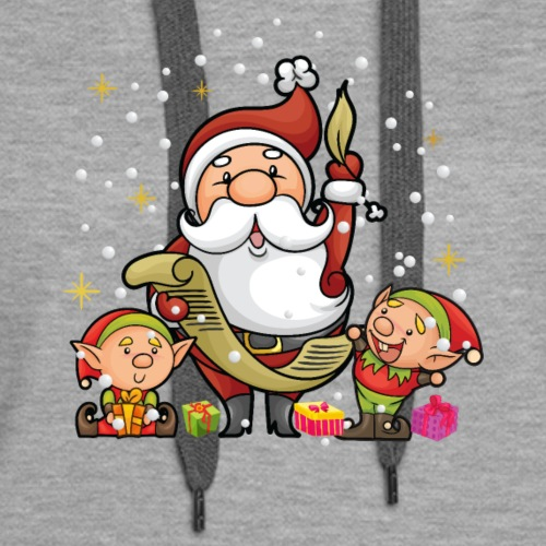 Chibi Santa and Elves - Women's Premium Hoodie