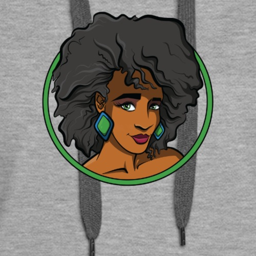 Black Woman Natural Hair Afro Shirt (v.1) - Women's Premium Hoodie