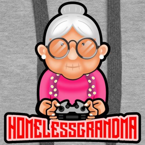 Homelessgrandma youtube logo basic - Women's Premium Hoodie