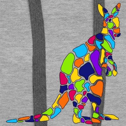 Art Deco kangaroo - Women's Premium Hoodie