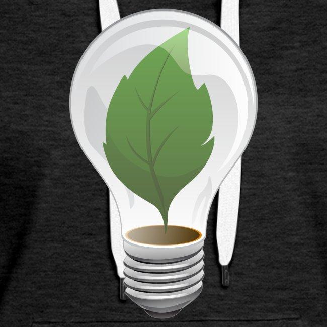 Clean Energy Green Leaf Illustration