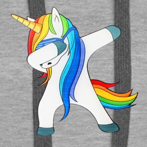 Dabbing Unicorn Funny Cute - Women's Premium Hoodie