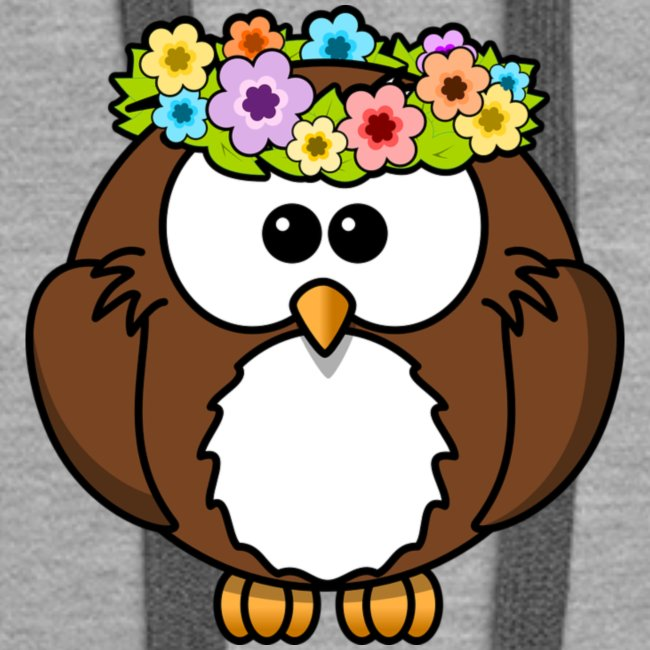 Owl With Flowers On Head T-Shirt