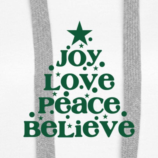 Christmas Tree Joy Peace Believe