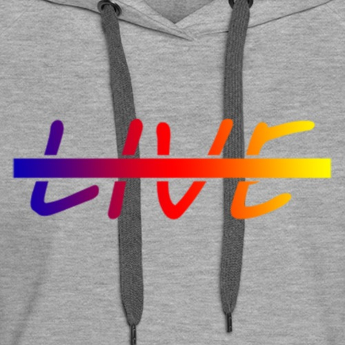 Live Logo Gradient - Women's Premium Hoodie