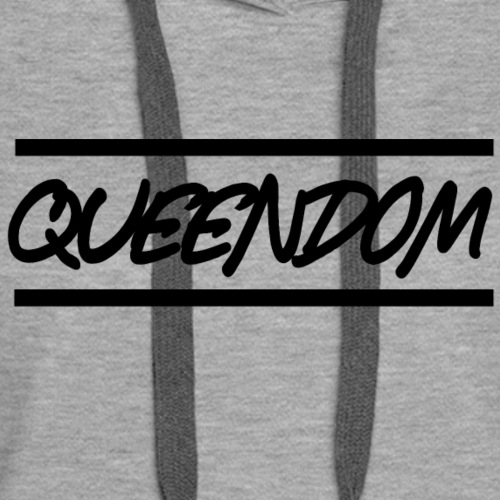 Queendom in Black - Women's Premium Hoodie