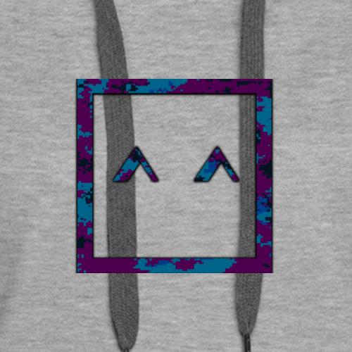 Kawaii face ^^ purple camo - Women's Premium Hoodie